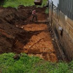 3Rs Construction Remodel - dig out for a new foundation drain system