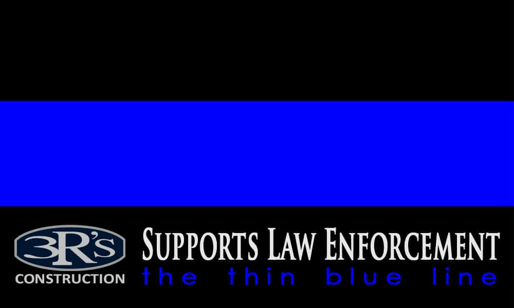 3Rs Construction in Salem Oregon supports Law Enforcement