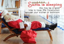 3Rs Construction in Salem, Oregon can remodel your kitchen or bathroom while santa sleeps