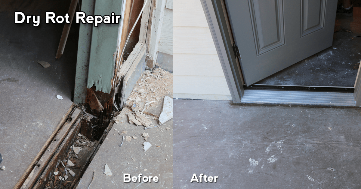 3Rs Construction Salem Oregon Dry Rot Before and After