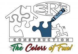 3Rs Construction Salem Oregon Logo Colors of Fun