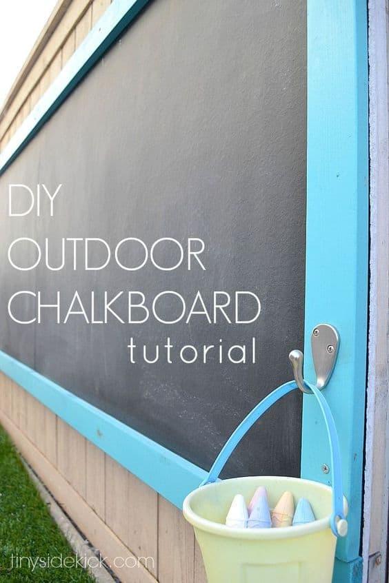 3Rs Outdoor Fun DYI Chalkboard